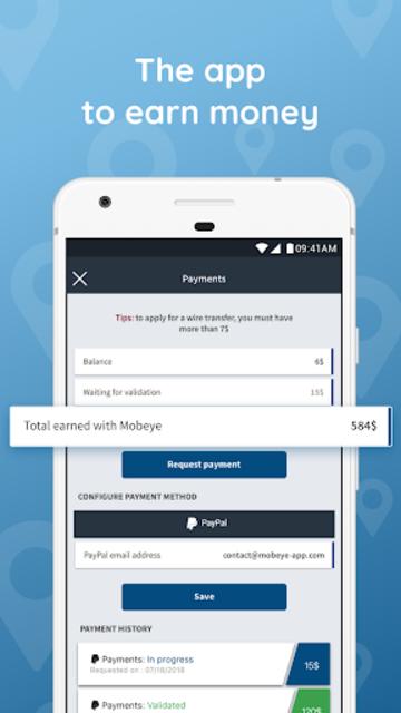 Mobeye - Earn money screenshot 1