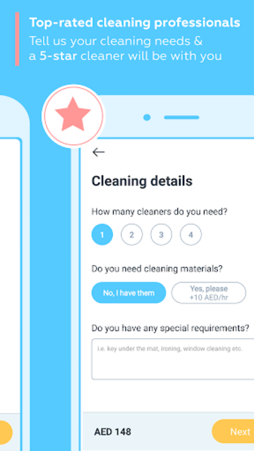 Justmop: Home Cleaning Services & Part-Time Maids screenshot 3