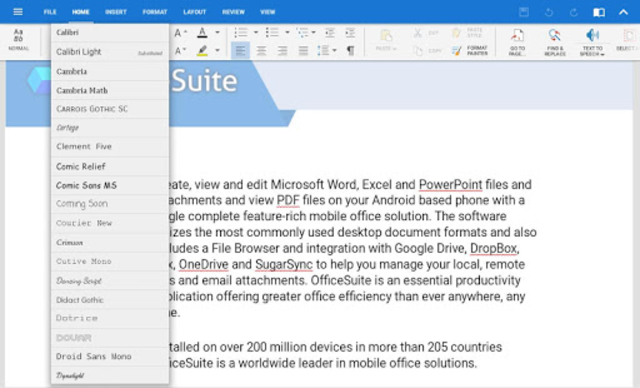 Download About: OfficeSuite Font Pack (Google Play version ...