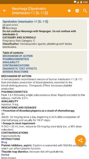Mosby's Drug Reference for Health Professions screenshot 1