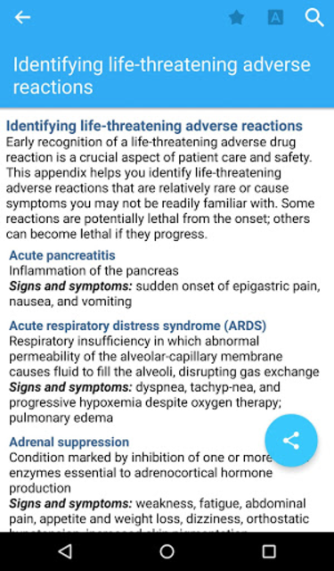 I.V. Drug Handbook screenshot 14
