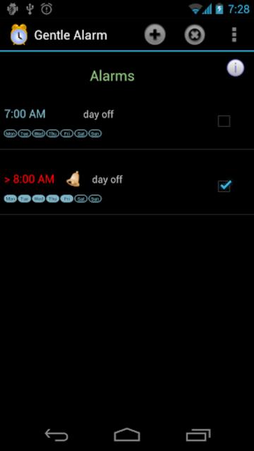 Gentle Alarm screenshot 2
