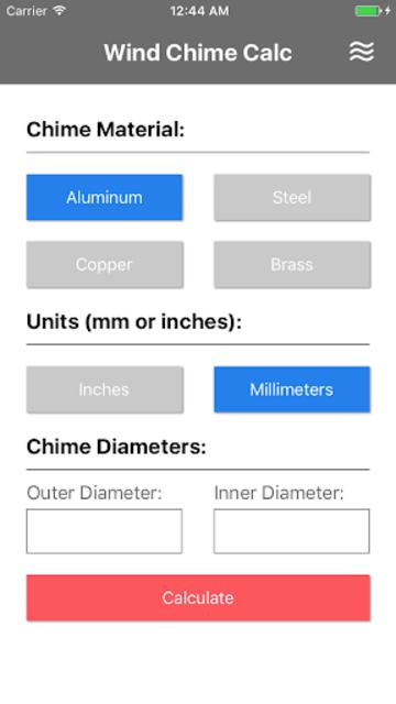 Wind Chime Calculator screenshot 2