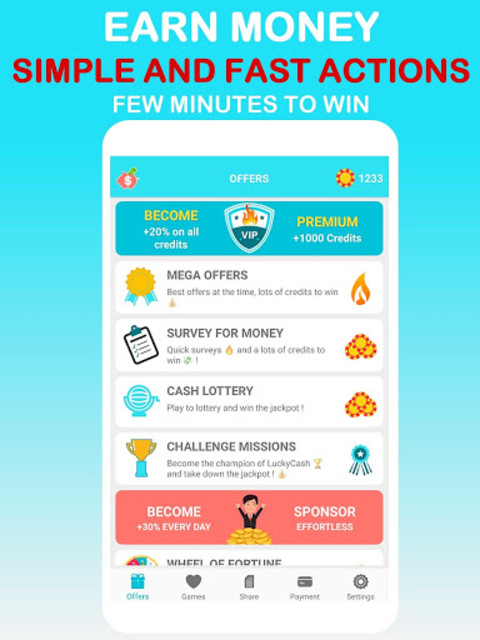 LuckyCash - Win real money and coupons ! screenshot 1