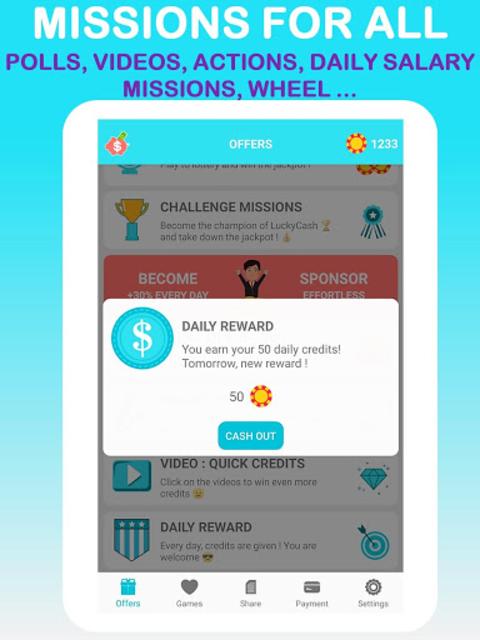 LuckyCash - Win real money and coupons ! screenshot 8