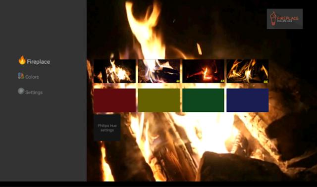 Fireplace Philips Hue screenshot 3