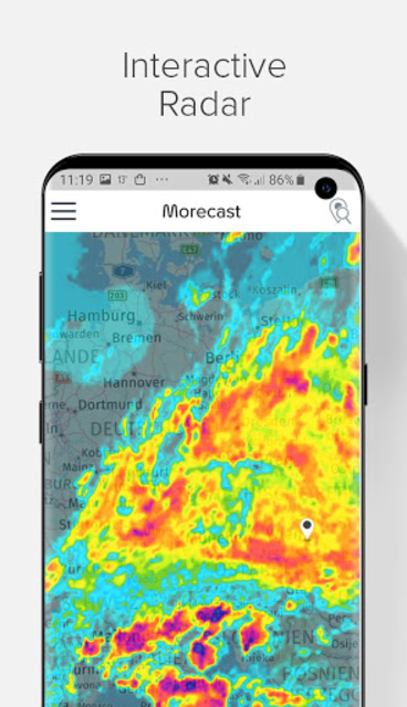 Weather Forecast, Radar & Widgets - Morecast screenshot 1