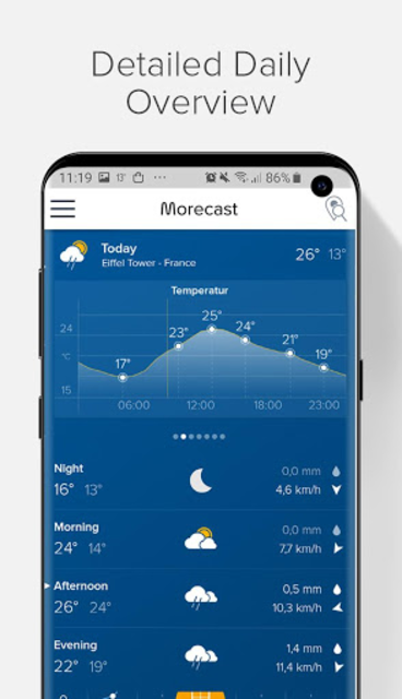 Weather Forecast, Radar & Widgets - Morecast screenshot 3