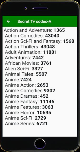 Secret list of Tv Codes screenshot 2