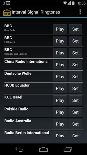 Interval Signal Ringtones screenshot 1