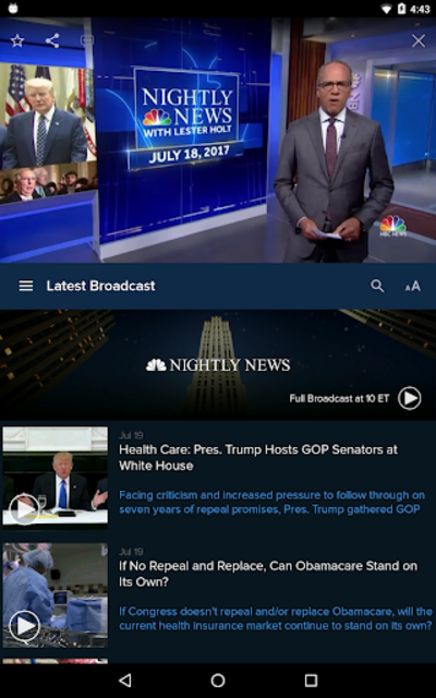 NBC Nightly News screenshot 9
