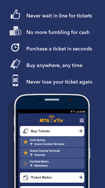 MTA eTix screenshot 1