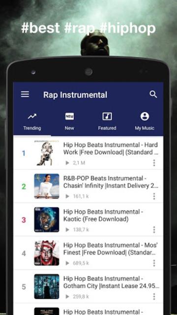 Instrumental Rap beats - Hip hop music 2019 screenshot 1