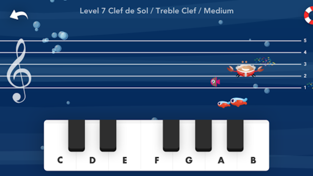 Music Crab-Learn to read music notes screenshot 1