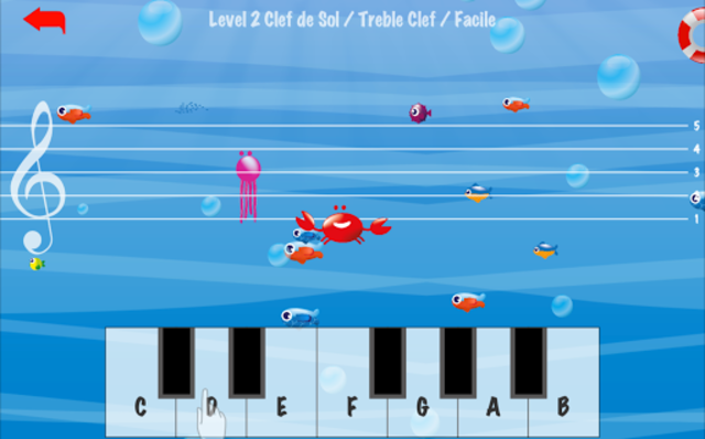 Music Crab-Learn to read music notes screenshot 7