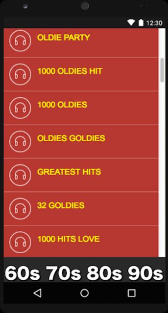 Oldies 60s 70s 80s 90s Radios. Retro Radios Free screenshot 2
