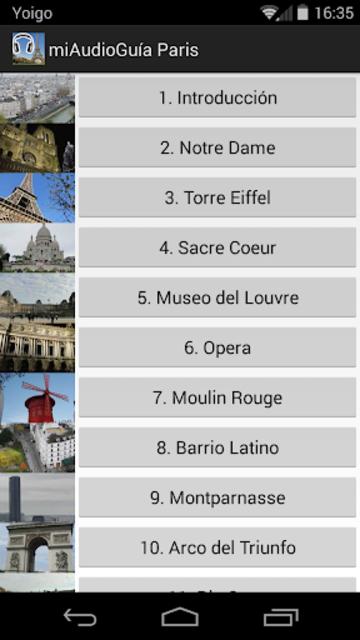 Audio Guía Paris MV screenshot 1
