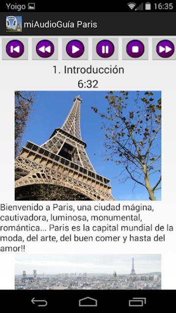 Audio Guía Paris MV screenshot 2