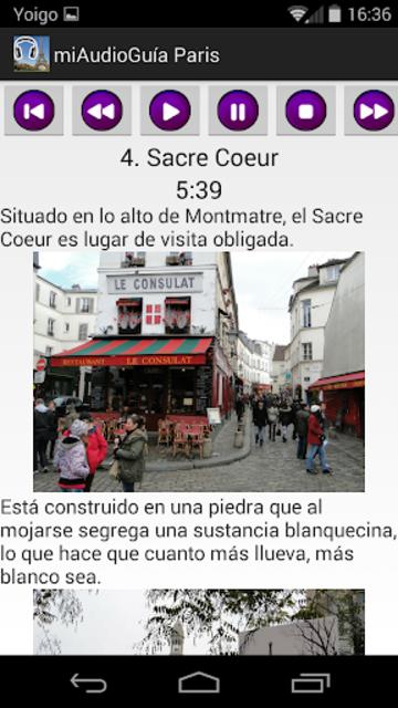 Audio Guía Paris MV screenshot 5