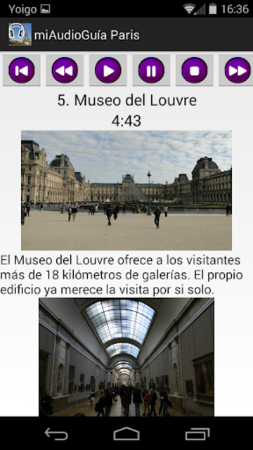 Audio Guía Paris MV screenshot 6