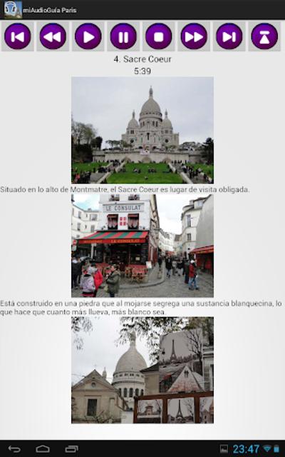 Audio Guía Paris MV screenshot 13