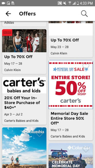 Tanger Outlets screenshot 2