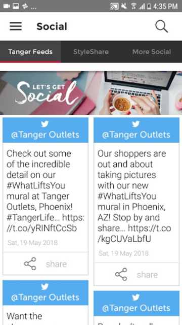 Tanger Outlets screenshot 5