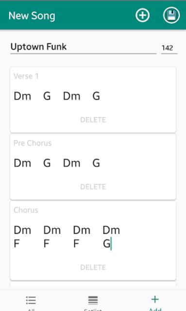 Chordy - Simply write down chords screenshot 2
