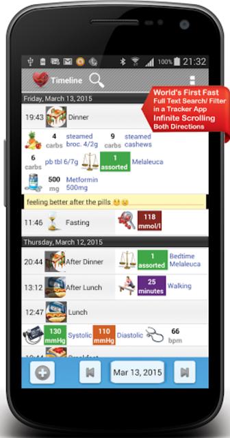 Diabetes, Blood Pressure, Health Tracker App screenshot 2