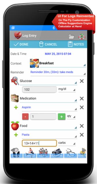 Diabetes, Blood Pressure, Health Tracker App screenshot 3
