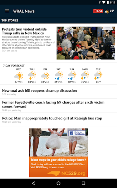 WRAL News App screenshot 11