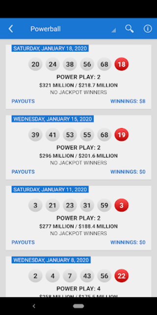 Mega Millions + Powerball Lotto Games in US screenshot 3