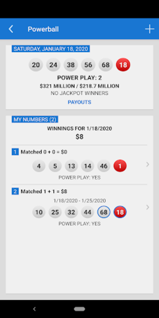 Mega Millions + Powerball Lotto Games in US screenshot 7