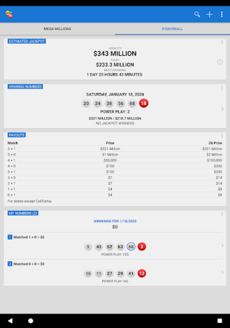 Mega Millions + Powerball Lotto Games in US screenshot 9
