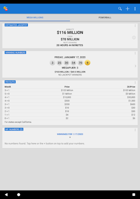 Mega Millions + Powerball Lotto Games in US screenshot 10
