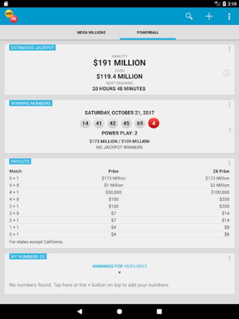 Mega Millions & Powerball Lotto Games in US screenshot 10
