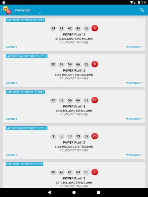 Mega Millions & Powerball Lotto Games in US screenshot 12