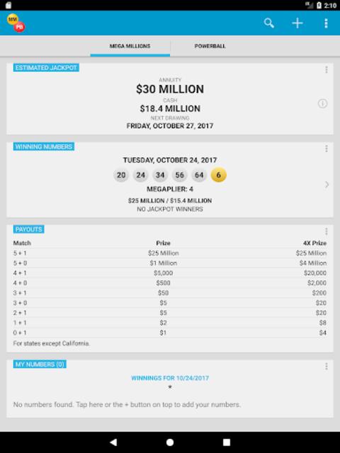 Mega Millions & Powerball Lotto Games in US screenshot 16