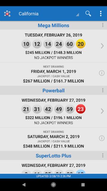 Lotto Results - Mega Millions Powerball Lottery US screenshot 17
