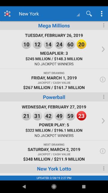 Lotto Results - Mega Millions Powerball Lottery US screenshot 18