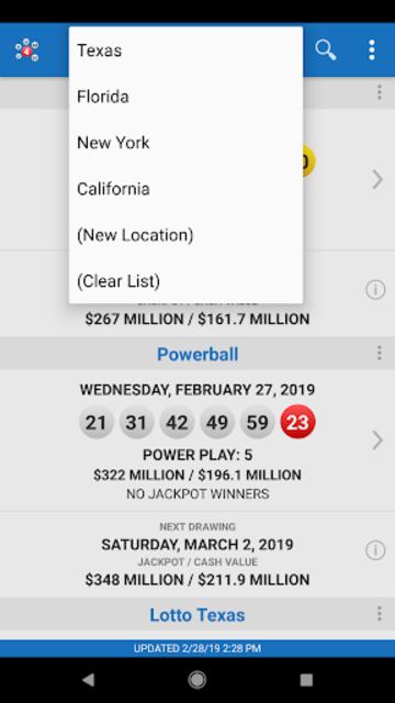 Lotto Results - Mega Millions Powerball Lottery US screenshot 19