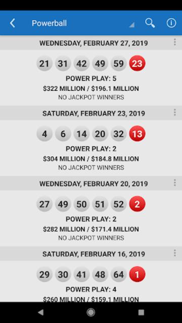 Lotto Results - Mega Millions Powerball Lottery US screenshot 20