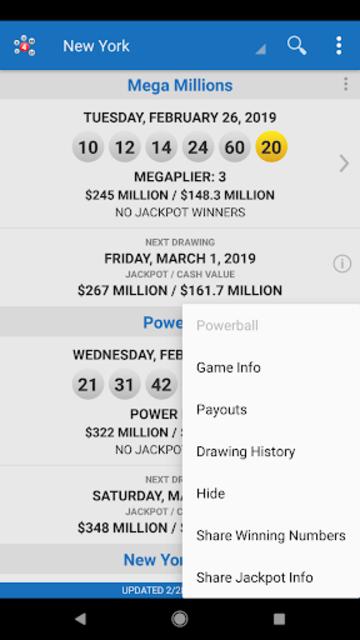 Lotto Results - Mega Millions Powerball Lottery US screenshot 23