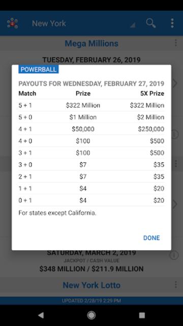 Lotto Results - Mega Millions Powerball Lottery US screenshot 24