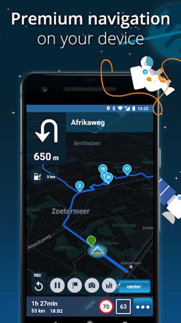 MyRoute-app Navigation: route editing & navigation screenshot 1