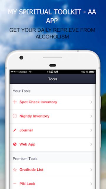 MySpiritualToolkit - 12 Step AA App for Alcoholics screenshot 1