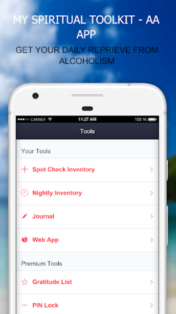MySpiritualToolkit - 12 Step AA App for Alcoholics screenshot 25