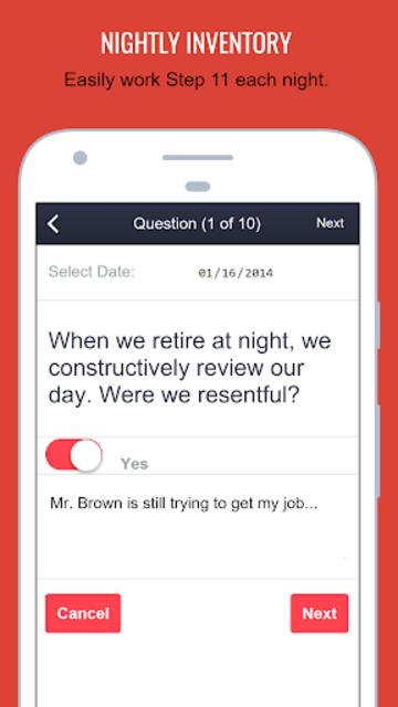 MySpiritualToolkit - 12 Step AA App for Alcoholics screenshot 4