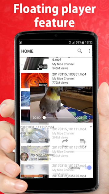 Video player for youtube screenshot 3