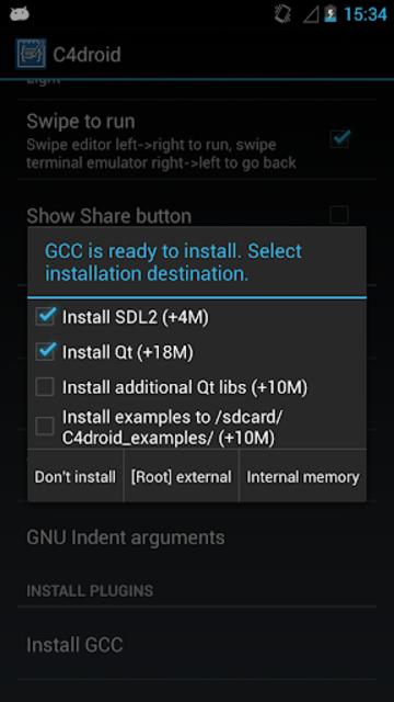 GCC plugin for C4droid screenshot 1